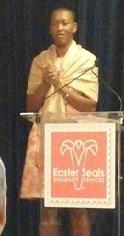 Claudia Gordon speaking at the 2014 Advocacy Summit