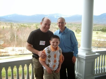 Gary Dietz, his son and his son's favorite caregiver to date, Jason