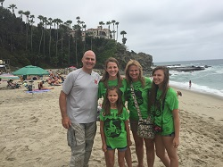 Haven McCormack and her family on a beach