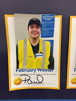 Paul in a Walmart employee of the month photo