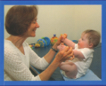 Physical therapy with baby wth Down syndrome