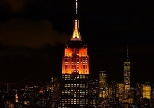 Empire State Building Lights Up Orange