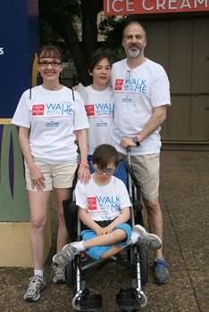 Reat family at Walk with Me event