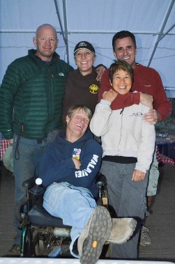 Steve Wampler and his camp friends as adults