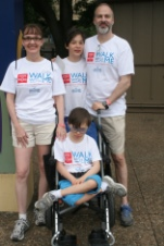 The Reat Family at Walk with Me event