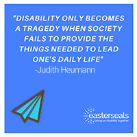 Disability only becomes a tragedy when society fails to provide the things we need to lead our lives