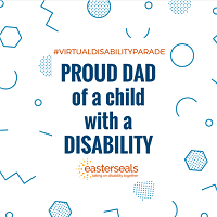 proud dad of a child with a disability