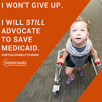 I won't give up. I will still advocate to save Medicaid