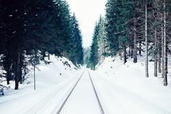 A landscape of snow