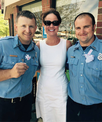 CEO with two Firefighters