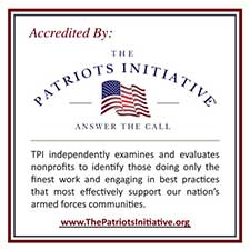 Decal indicating our Accreditation by The Patriots Initiative