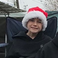 Autism Graduate Ethan at the Yucaipa Christmas Parade