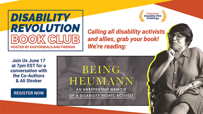 Judy Heumann Book Club Flyer