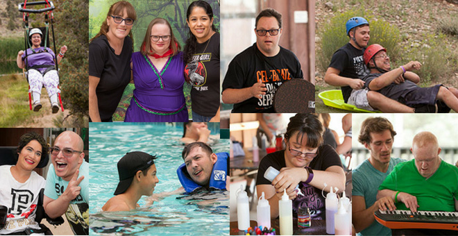 Photos highlighting the activities at Easterseals Camp in 2018