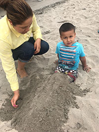 Family from Childrens Services Escondido at the Beach