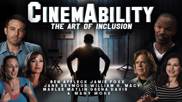 Poster graphic for the documentary film CinemAbility about disability and Hollywood