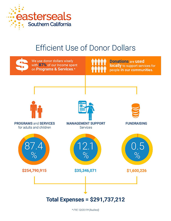 Donor Dollar Infographic 2019