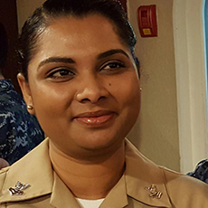 Photo of Sanjeeta T, a Bob Hope Veterans Support Program client