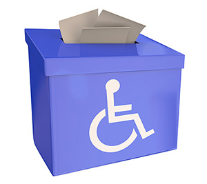 Voting Box with Disability Symbol