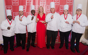 Group of celebrity chefs