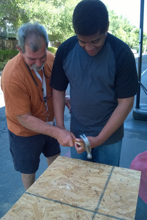 ACE-IT II Consumer doing woodworking