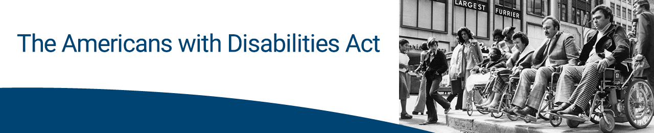 Americans with disabilities Act banner