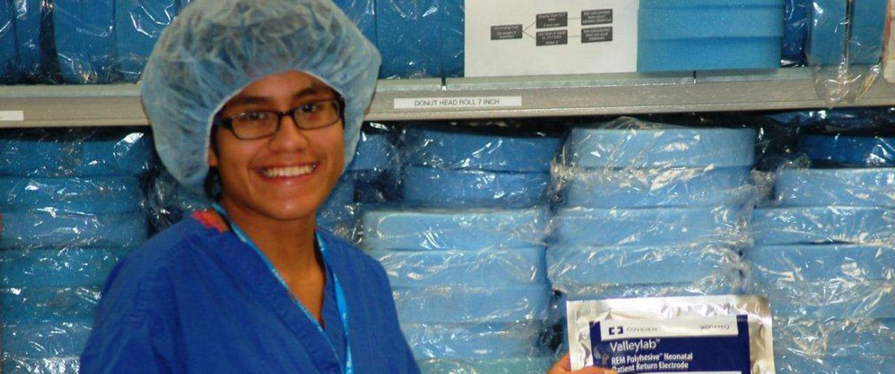 Smiling worker in uniform